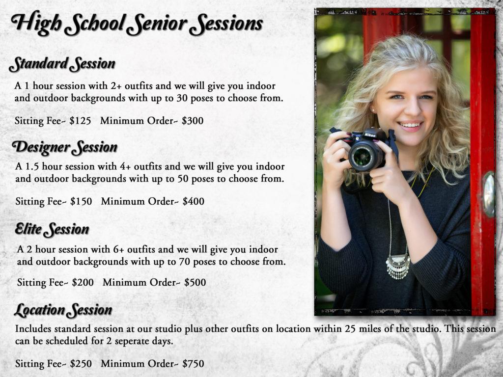 Senior Session Pricing